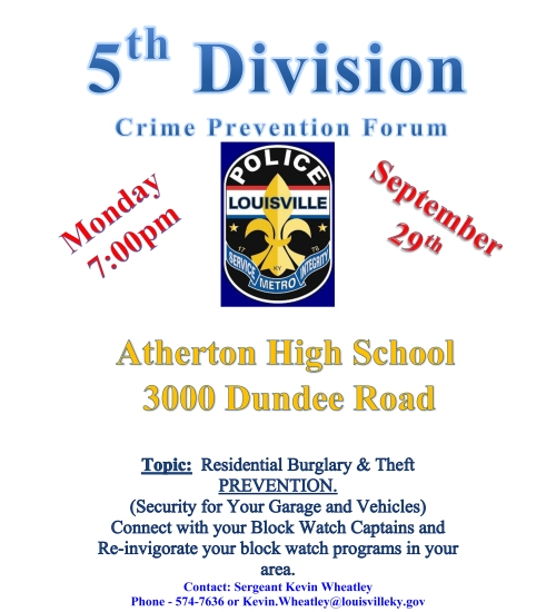 5th Division Crime Prevention Forum